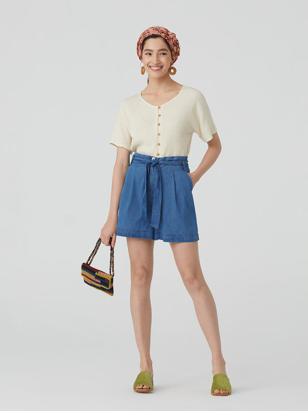 NICE THINGS PALOMAS - DENIM SHORTS - Shop Solee Shoes