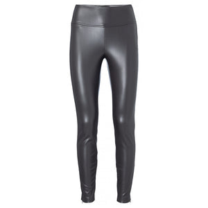 YAYA - FAUX LEATHER LEGGING COCOA