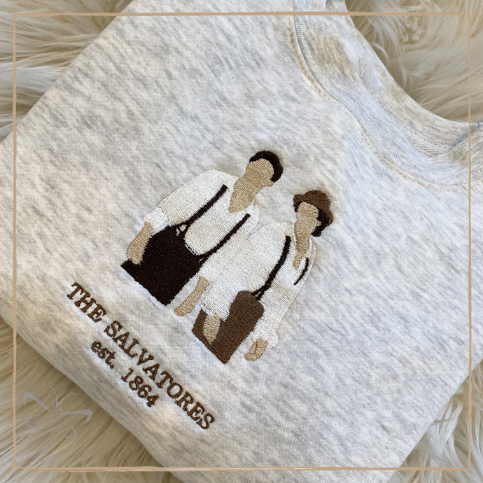 Salvatore Brothers 1864 Embroidered Crewneck - The Vampire Diaries Inspired