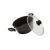 5-Piece Black Marble Cookware Set