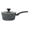 "Gray Granite Marble Finish Sauce Pan (8"")"
