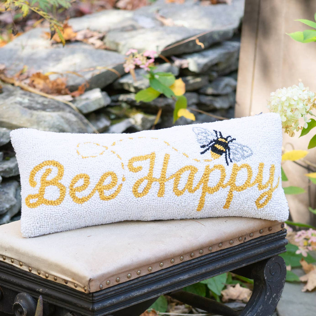 Bee Happy Hook Pillow