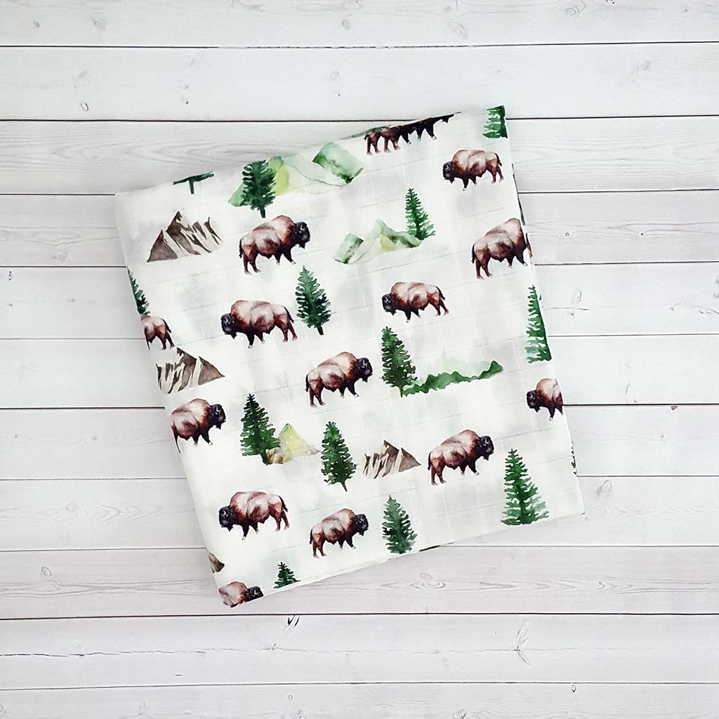 Adventure Buffalo Swaddle Blanket
