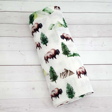 Load image into Gallery viewer, Adventure Buffalo Swaddle Blanket