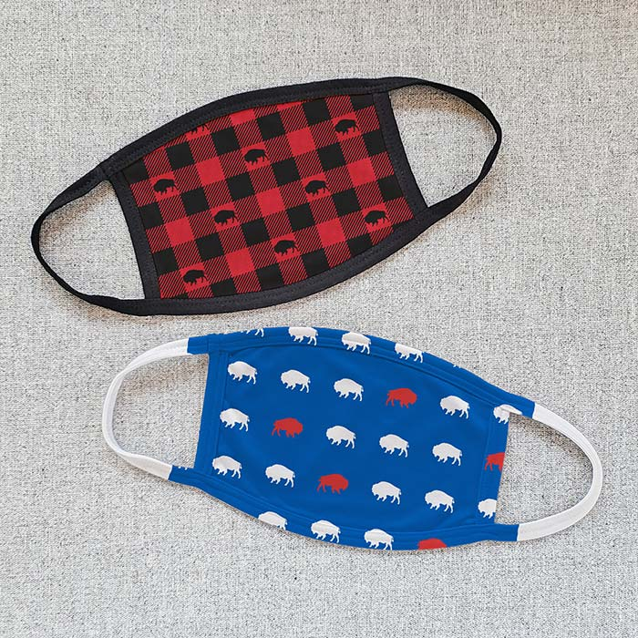 Adult Printed Buffalo Face Masks