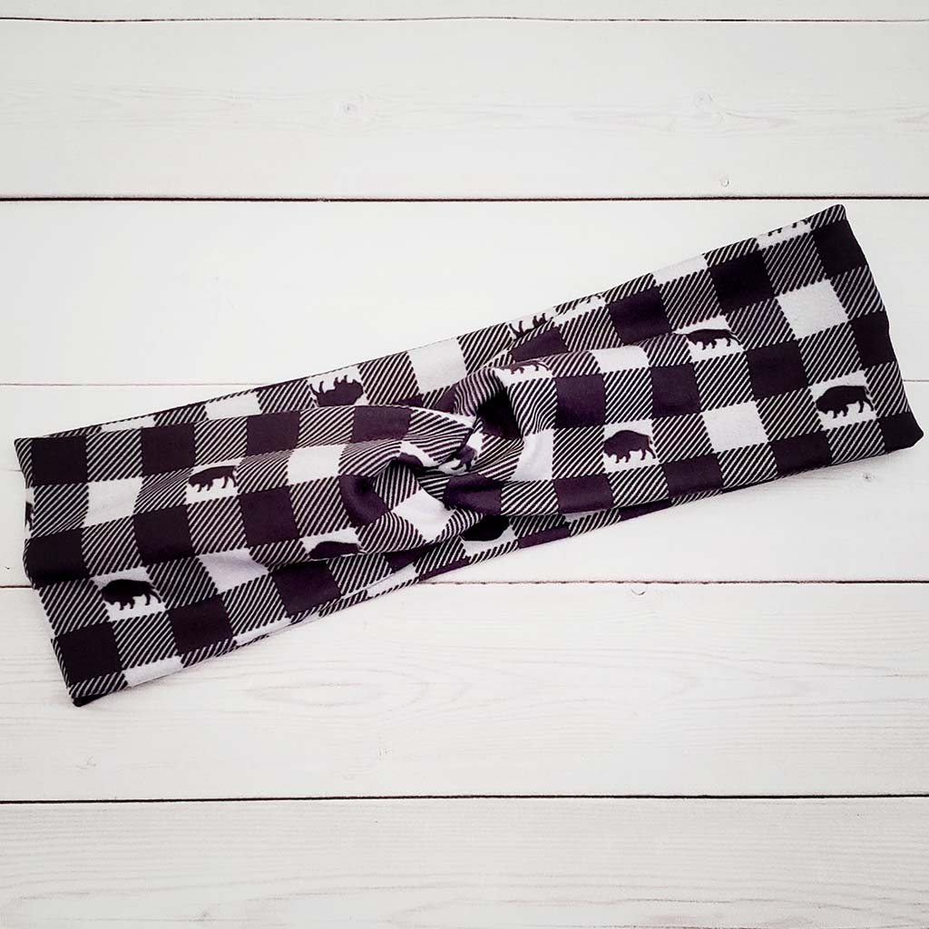 Buffalo Check Headband