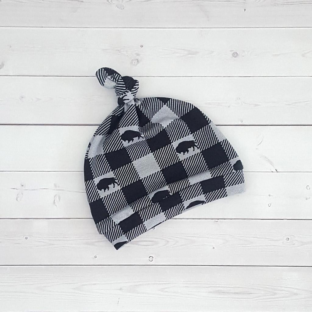 Buffalo Check Knot Hat