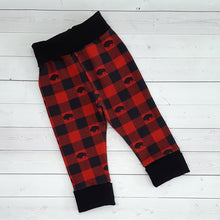 Load image into Gallery viewer, Buffalo Plaid Grow with me pants 3