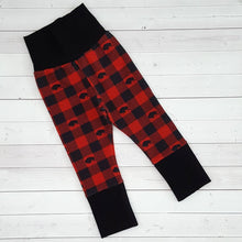 Load image into Gallery viewer, Buffalo Plaid Grow with me pants 2