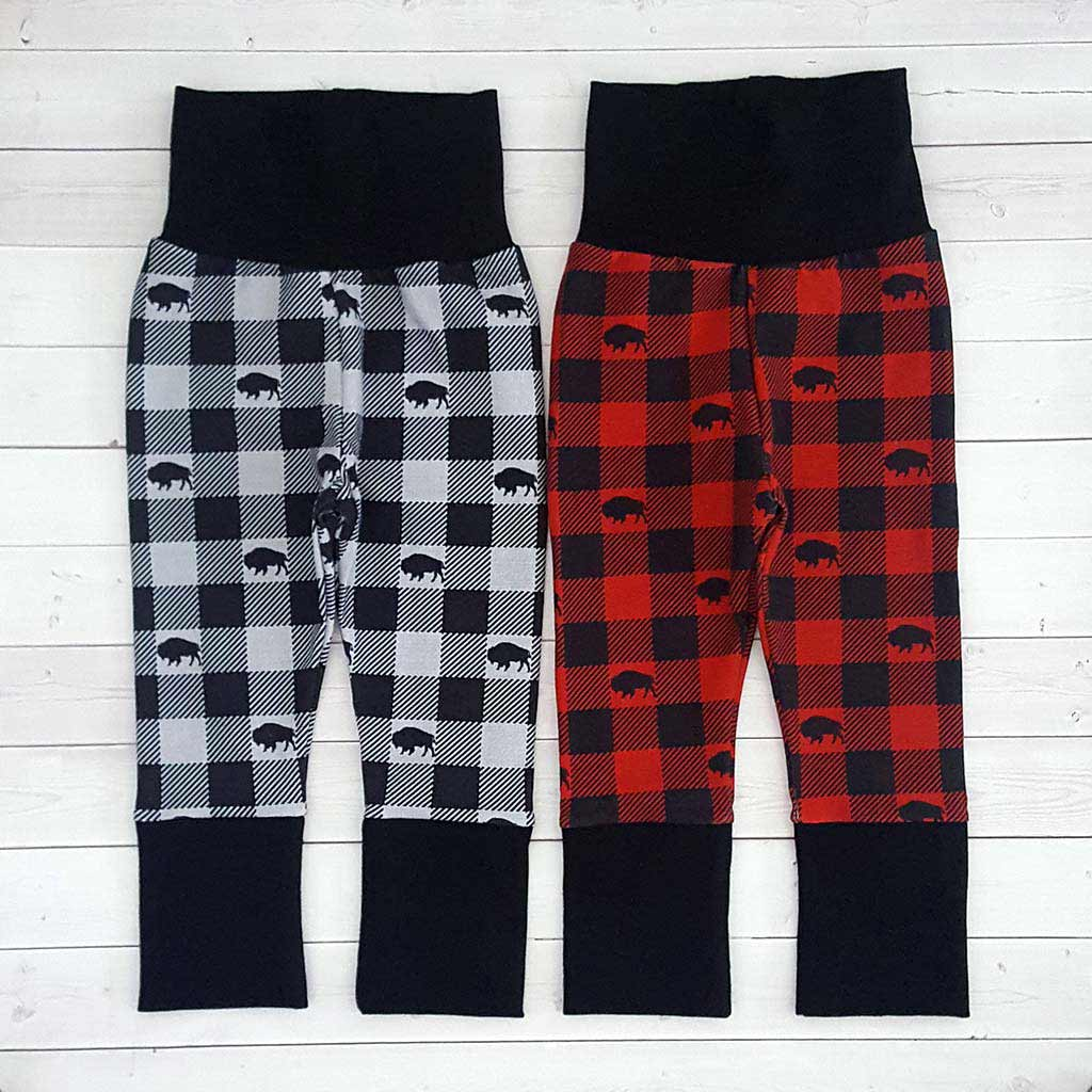 Buffalo Plaid Grow With Me Pants