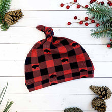 Load image into Gallery viewer, Buffalo Plaid Knot Hat
