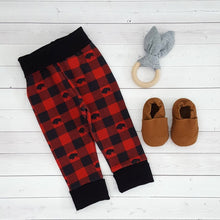 Load image into Gallery viewer, Buffalo Plaid Grow with me pants 1