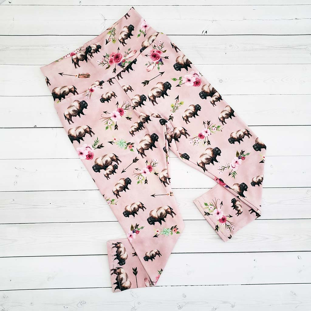 Kid's Floral Buffalo Leggings
