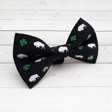 Load image into Gallery viewer, Irish Buffalo Dog Bow Tie