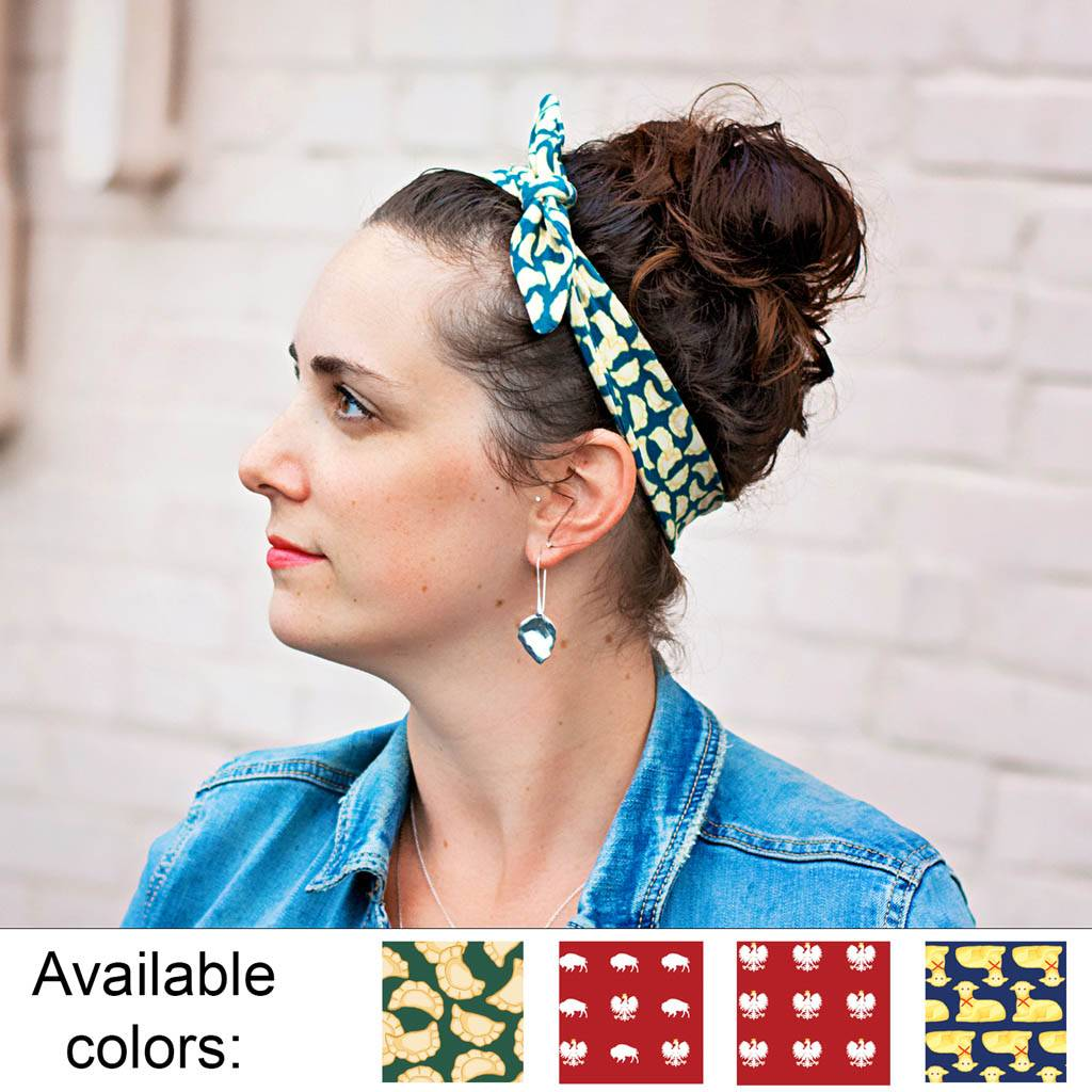Polish Top Knot Headband
