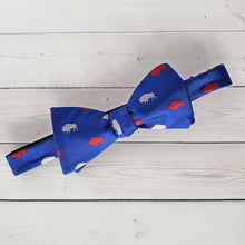 Load image into Gallery viewer, Blue and Red Buffalo Neck Tie or Bow Tie