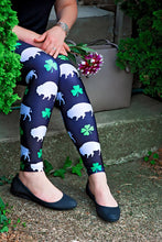 Load image into Gallery viewer, Black Buffalo Irish Leggings