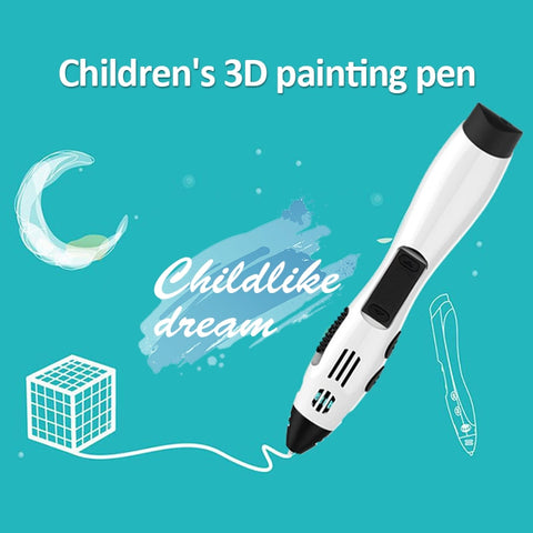 DEWANG 3D Second Generation Low Temperature Children 3D Printing Pen DIY Crafting Doodle Graffiti Brush Arts Printer Modeling