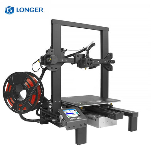 LONGER LK4 FDM 3D Printer Kit With Touch Screen Tempered Glass Frame Design Resuming Printing