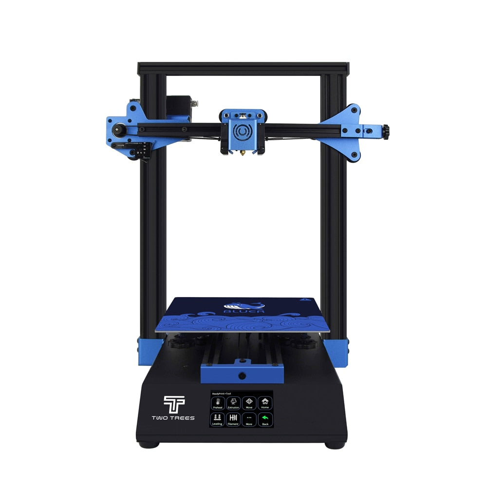 TWO TREES 2020 Newset 3D Printer Bluer i3 printer 235x235mm size 3d Diy Kit 3.5-inch color touch screen with TMC2208 A4988