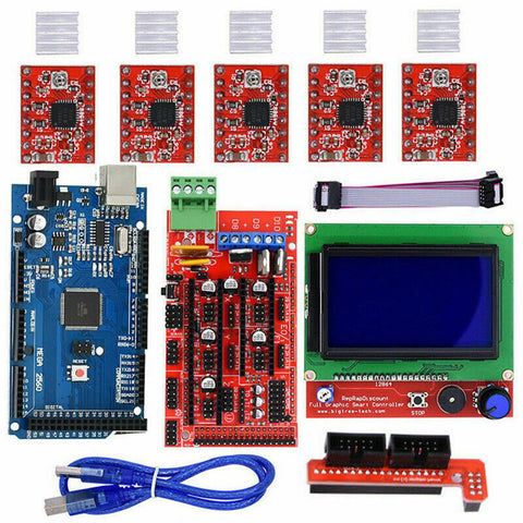 3D Printer 12864 LCD Display Main Control 1.4 Expansion Board A4988 Kit Sensor Module Electronic DIY Kit