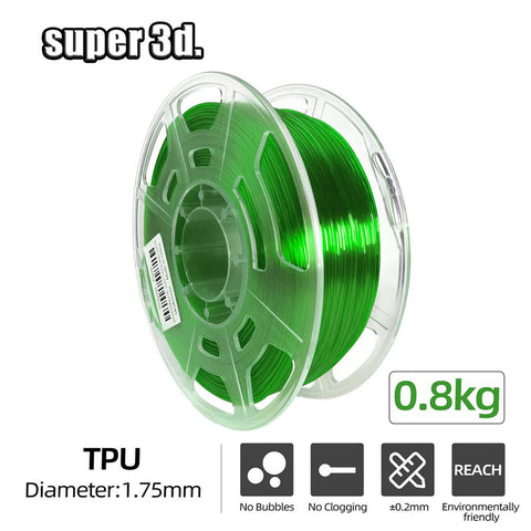 3D Printing Filament TPU Flexible Filament Plastic 0.8kg for 3D Printer /3D Pen 1.75mm Printing Rubber Materials High resilience