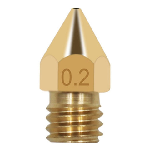 Brass Nozzles 3D Printer Accessories Mk8 Pointed Brass Nozzle Surface Lettering Printing Accessories