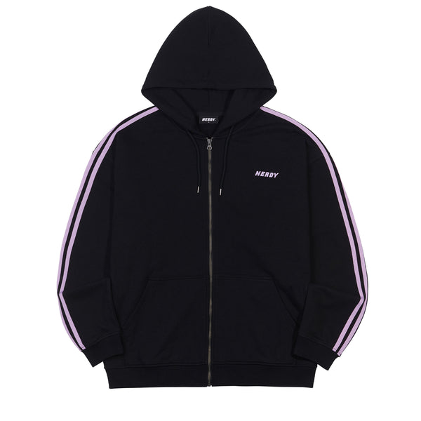 NY Hooded Zip-up Black