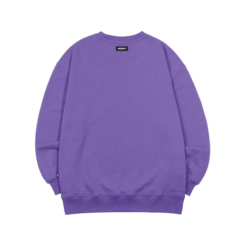 RGB Logo Tape Sweatshirt Purple