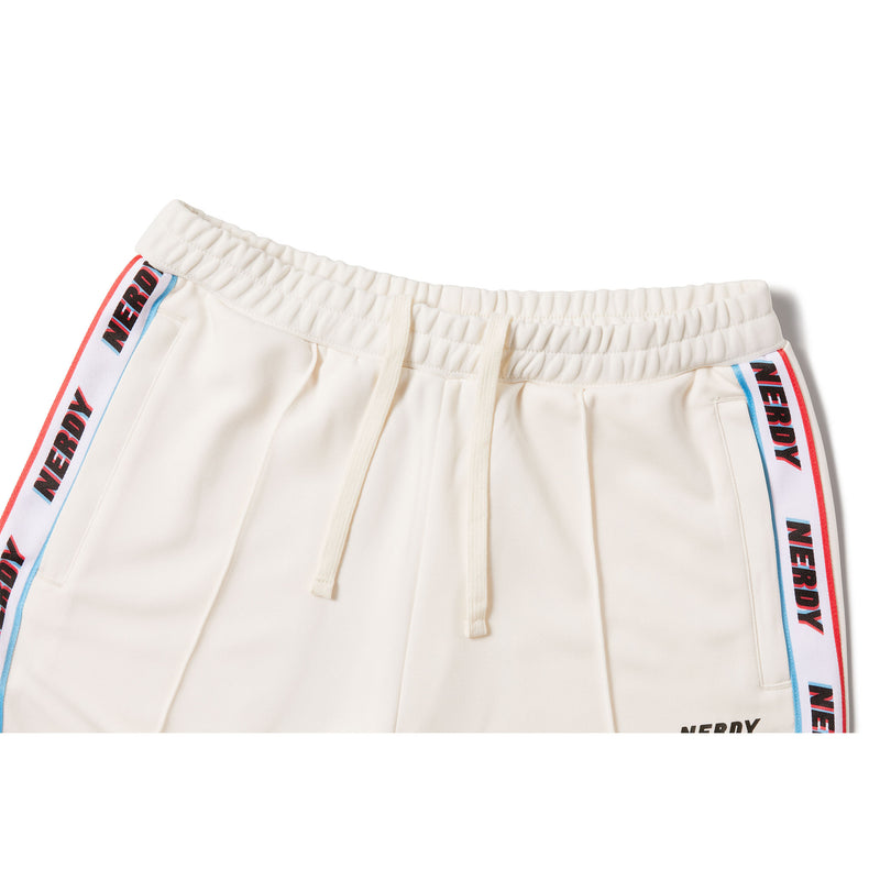 RGB Logo Tape Track Pants Cream