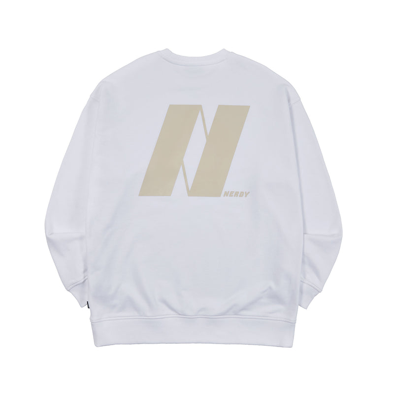 Tone On Tone Symbol Sweatshirt White
