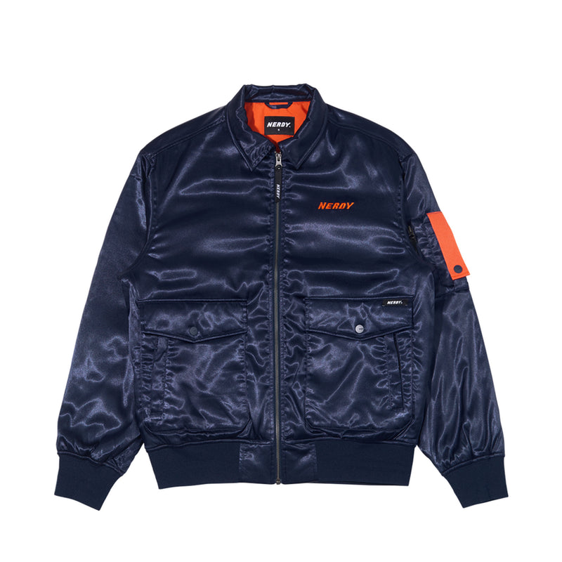 Aviator Jacket Navy - NERDY US