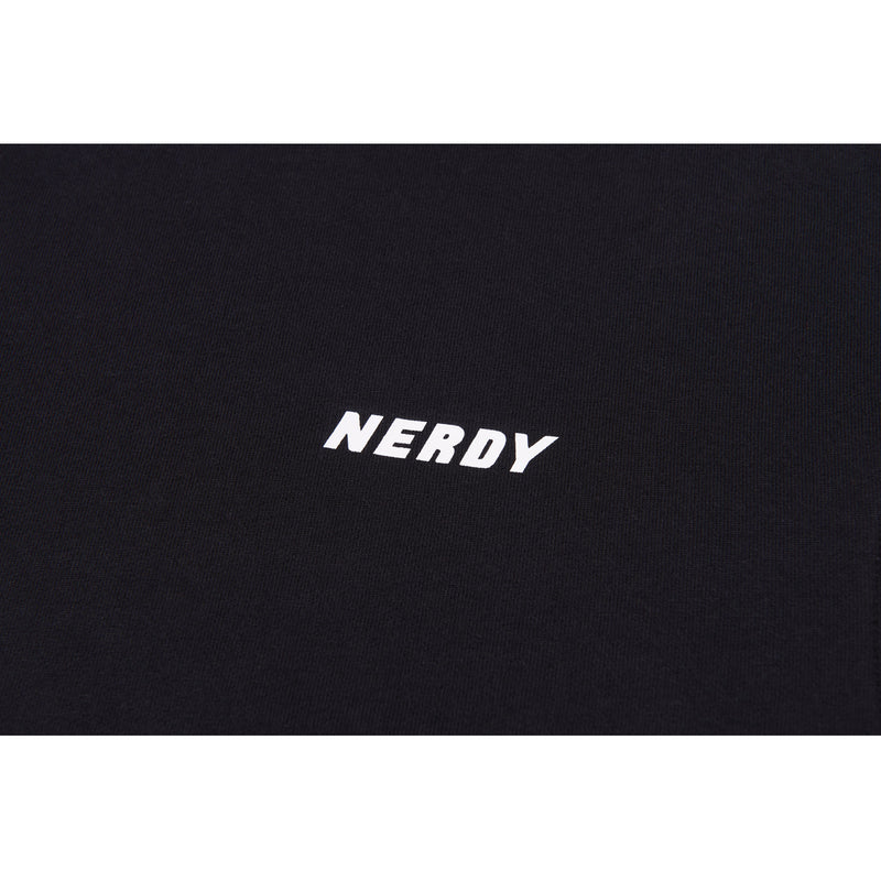 Big N Tape Sweatshirt Black - NERDY US