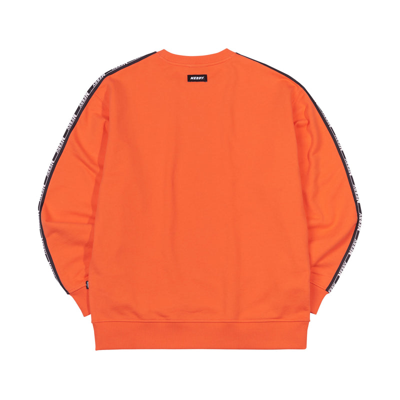 Big N Tape Sweatshirt Orange - NERDY US