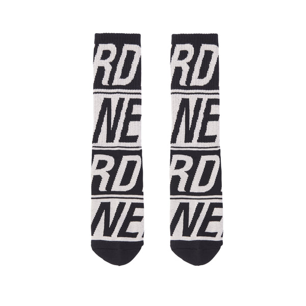 Logo Pattern Socks Black - NERDY US