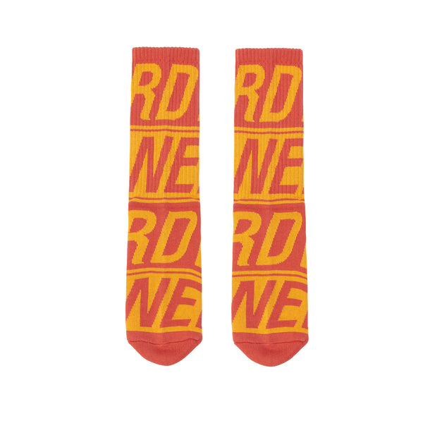 Logo Pattern Socks Orange - NERDY US