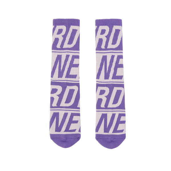 Logo Pattern Socks Purple - NERDY US
