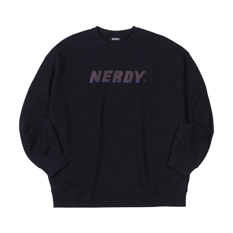 Rainbow Logo Sweatshirt Black - NERDY US