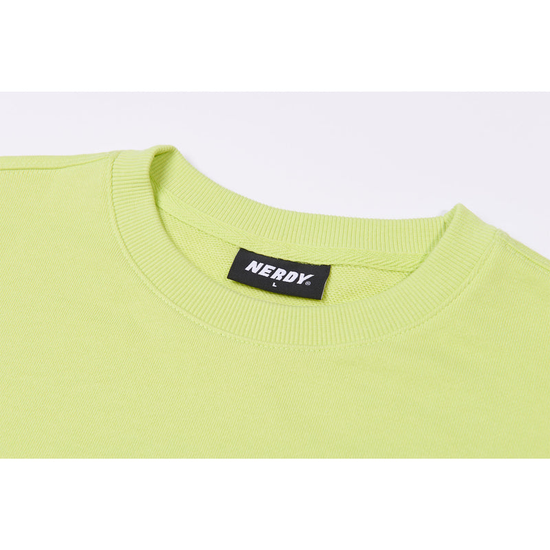 Rainbow Logo Sweatshirt Lime - NERDY US