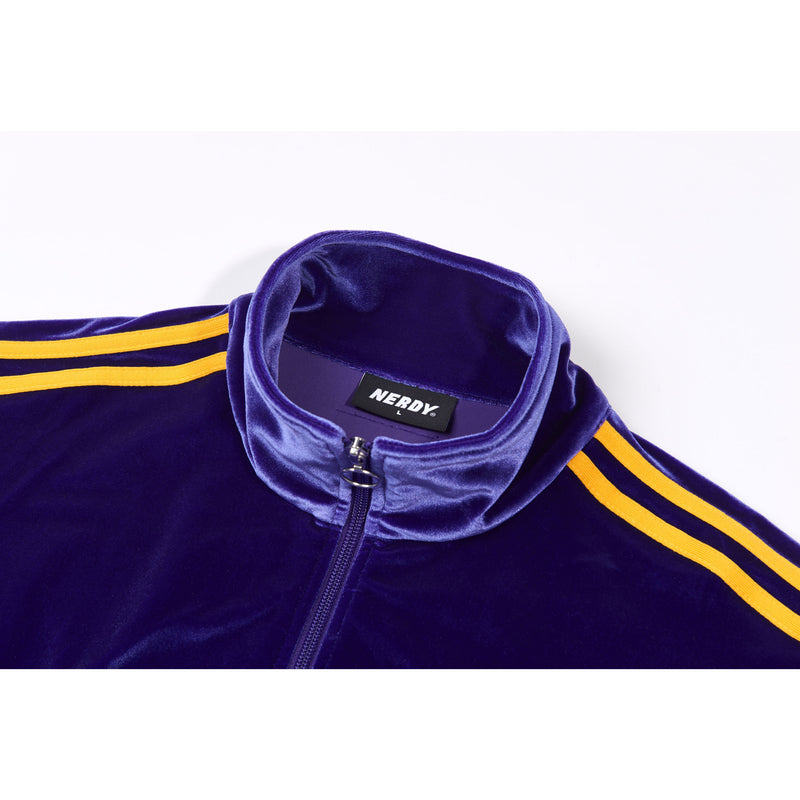 Velvet Track Top Purple - NERDY US