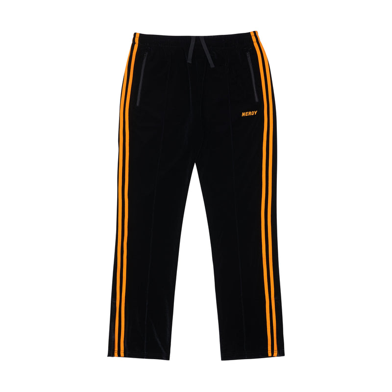 Velvet Track Pants Black - NERDY US