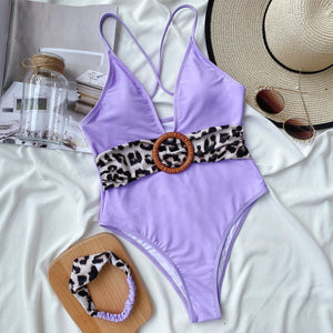 Bikini Women's One-Piece Swimming Suit Hot Swimwear with Hair Band - StylezbyFuse Boutique