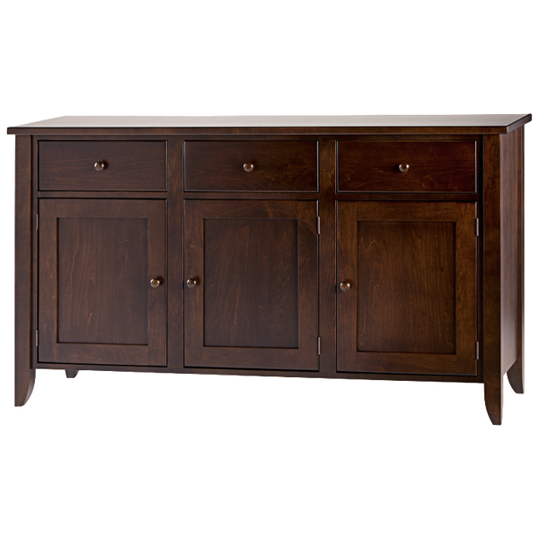 Tapered Leg 3 Drawer 3 Door Dining Chest