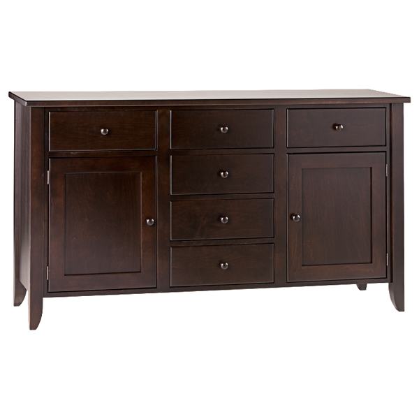 Tapered 6 Drawer 2 Door Dining Chest