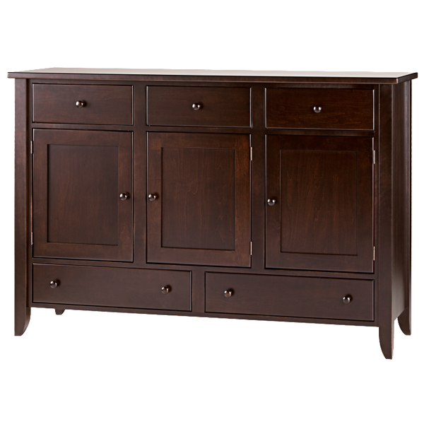 Tapered Leg 5 Drawer 3 Door Dining Chest