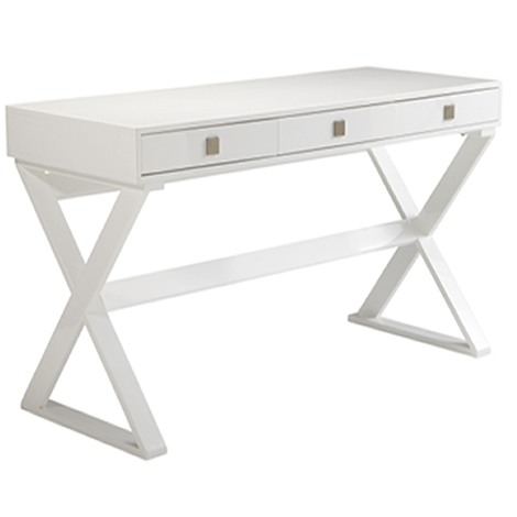 Emilio Desk High Gloss White