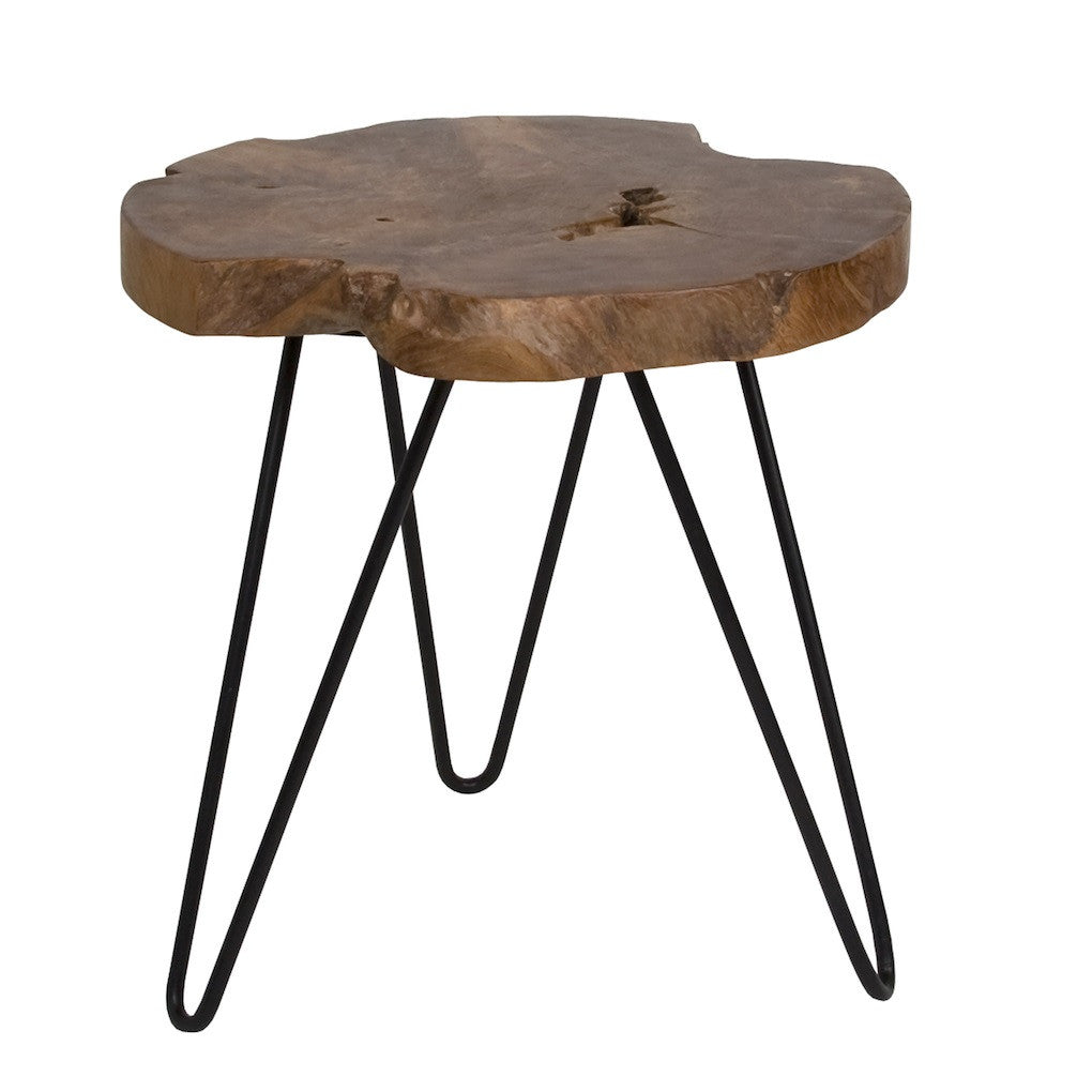 Natura Hairpin Side Table Round