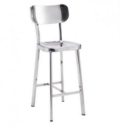 Winter Polished Stainless Steel Stool