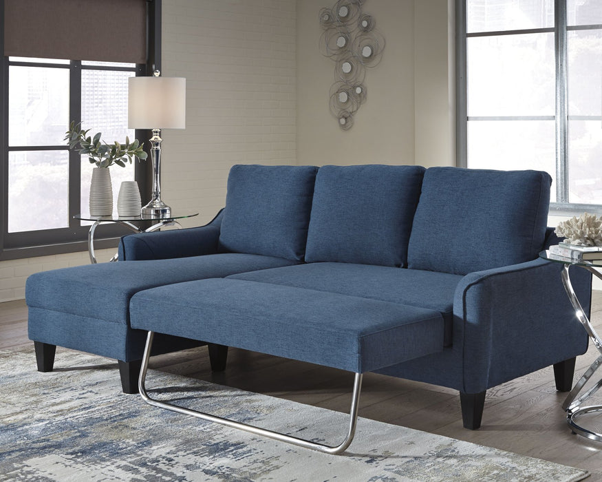 Jarreau Signature Design by Ashley Blue Sofa Chaise Sleeper