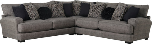 Jackson Furniture Ava 3pcs Sectional Set with USB Port in Pepper image